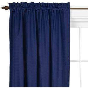 Navy Blackout Curtains (Set of Two)
